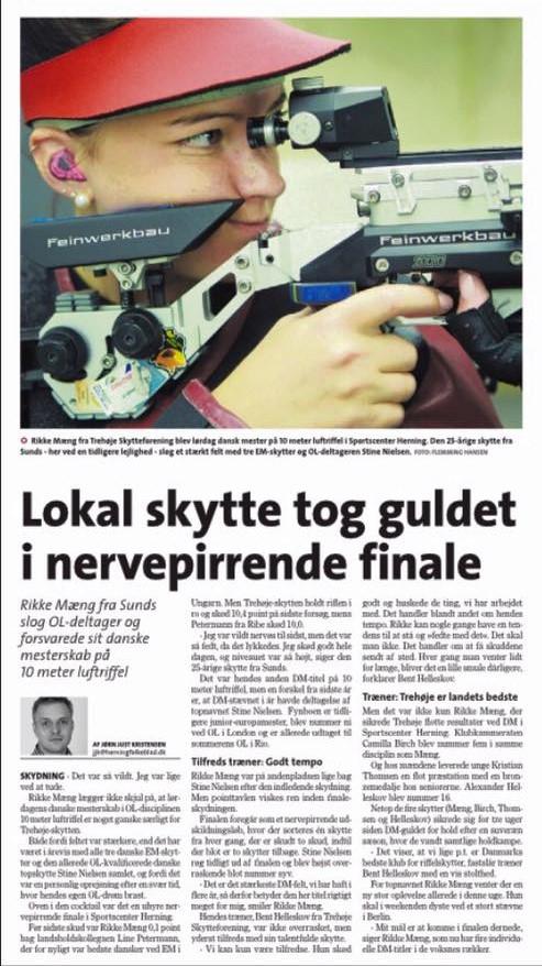 Rikke Mæng DM 10m luftriffel Ørre Skytteforening